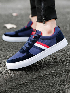 Blue Red White and Black Canvas Comfort  Shoes for Casual  Outdoor