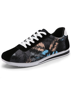 Black Blue and White Suede Comfort  Shoes for Casual Outdoor