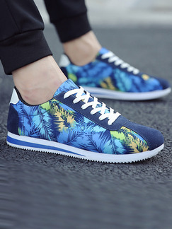 Blue and White Suede Comfort  Shoes for Casual Outdoor