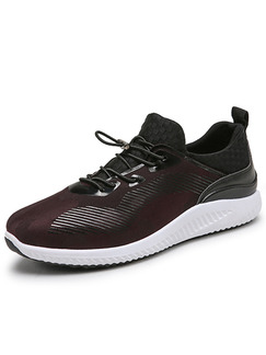 Maroon Black and White Leather Comfort  Shoes for Casual Athletic Outdoor