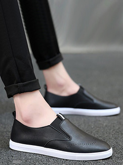 Black and White Leather Comfort Shoes for Casual Work Office