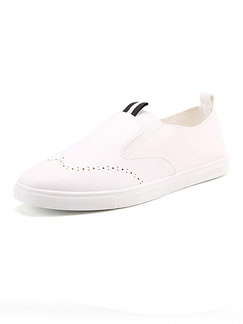 White Leather Comfort  Shoes for Casual Work Office