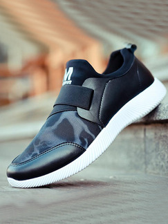 Black and White Leather Comfort  Shoes for Casual