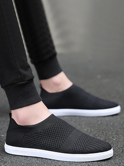 Black and White Canvas Comfort  Shoes for Casual Work Office