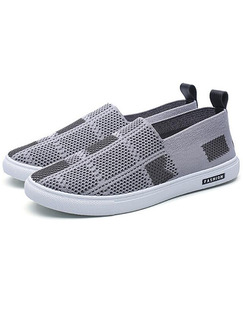 Grey and White Canvas Comfort  Shoes for Casual Office Work