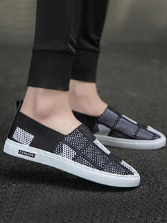 Pasabuy Black and White Canvas Comfort  Shoes for Casual Office Work