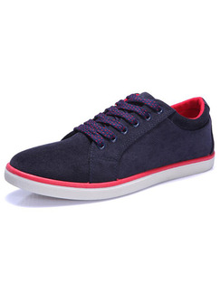 Black Red and White Canvas Comfort  Shoes for Casual Work Office