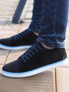 Black Blue and White Canvas Comfort  Shoes for Casual Work Office