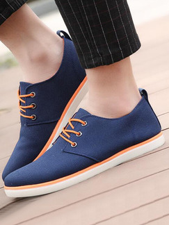 Blue Apricot and White Canvas Comfort  Shoes for Casual Office Work
