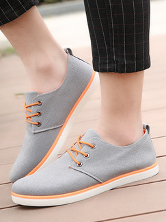 Grey Apricot and White Canvas Comfort  Shoes for Casual Office Work