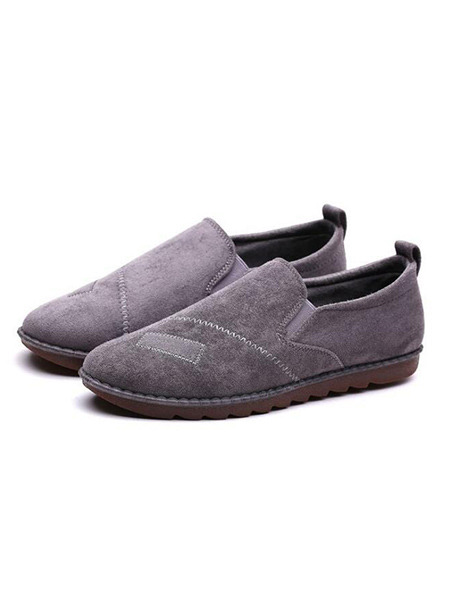 Grey Suede Comfort  Shoes for Casual Office Work
