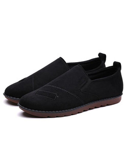 Black Suede Comfort  Shoes for Casual Office Work