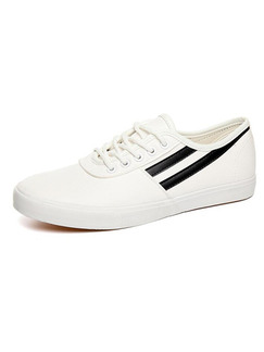 White and Black Leather Comfort  Shoes for Casual Office Work