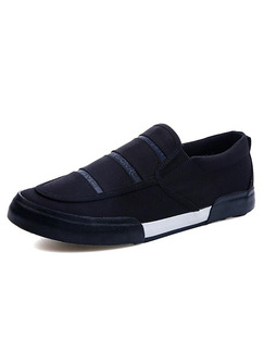 Black and White Suede Comfort  Shoes for Casual Office Work
