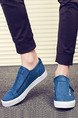 White and Blue Canvas Comfort  Shoes for Casual Office Work