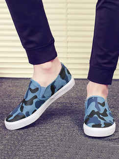 Blue Black and White Canvas Comfort  Shoes for Casual Office Work