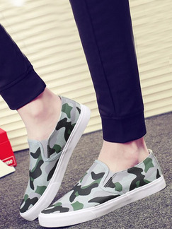 Green Black and White Canvas Comfort  Shoes for Casual Office Work