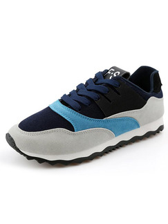 Blue Grey and Black Suede Comfort  Shoes for Casual Work