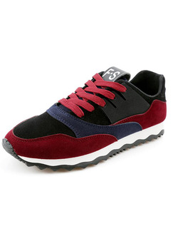 Red Black and White Suede Comfort  Shoes for Casual Work