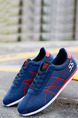 Blue and Red Canvas Comfort  Shoes for Casual