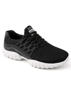 Black and White Canvas Comfort  Shoes for Casual Athletic