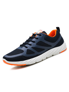 Black White and Orange Canvas Comfort  Shoes for Casual Athletic
