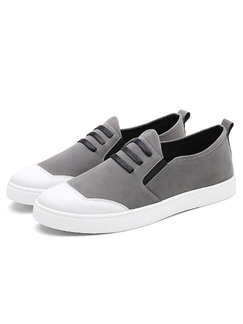 Grey and White Suede Comfort  Shoes for Casual Office Work