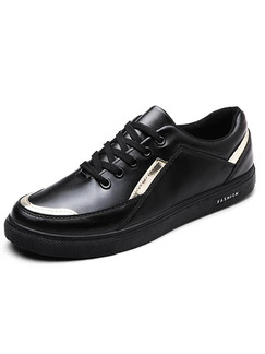 Black Leather Comfort  Shoes for Casual Work Office