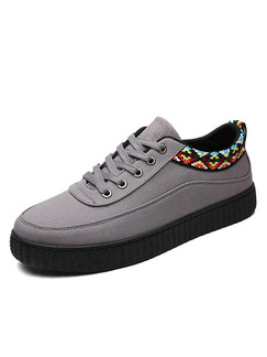 Black and Grey Colorful Canvas Comfort  Shoes for Casual Office Work