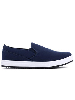 Blue and White Canvas Comfort  Shoes for Casual Office Work