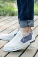 White and Grey Canvas Comfort  Shoes for Casual Office Work