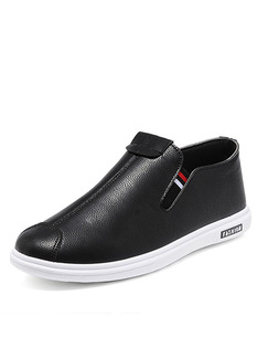 Black and White Leather Comfort  Shoes for Casual Office Work