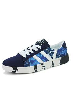 Blue White and Black Canvas Comfort  Shoes for Casual Athletic