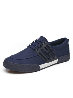 Blue Black and White Canvas Comfort  Shoes for Casual Outdoor Work Office