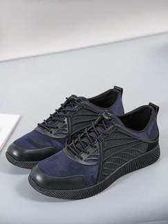 Blue and Black Canvas Comfort  Shoes for Casual Athletic Outdoor Work