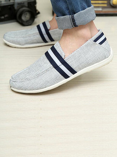 Grey Blue and White Canvas Comfort  Shoes for Casual Outdoor Office Work