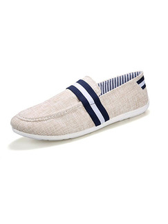 Cream Blue and White Canvas Comfort  Shoes for Casual Outdoor Office Work