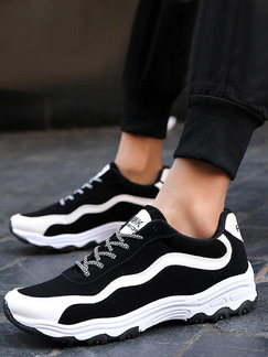 Black and White Leather Comfort Shoes for Casual Athletic Outdoor