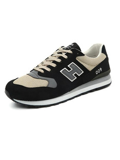 Grey Black and Cream Leather Comfort  Shoes for Casual Athletic Outdoor
