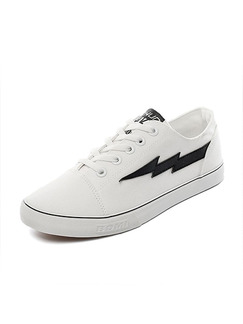 White Canvas Comfort Shoes for Casual