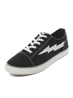 Black Canvas Comfort  Shoes for Casual
