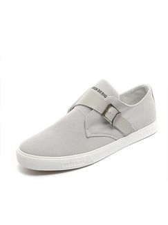 Grey Canvas Comfort  Shoes for Casual
