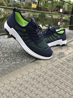 Blue Green Canvas Comfort  Shoes for Athletic Casual
