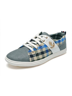 Grey Colorful Canvas Comfort  Shoes for Casual Office