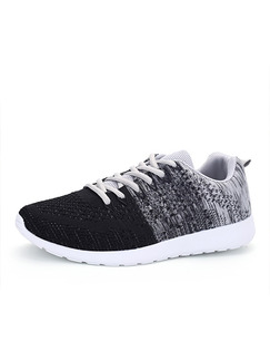 Black Grey and White Suede Comfort  Shoes for Casual Athletic