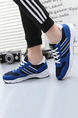 Blue and White Leather Comfort  Shoes for Casual Athletic Outdoor