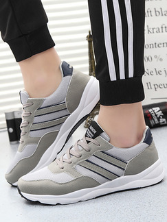 Pasabuy Grey and White Leather Comfort  Shoes for Casual Athletic Outdoor