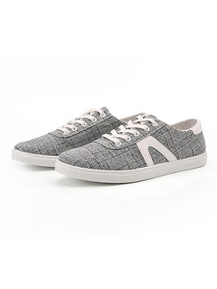 Grey Leather Comfort  Shoes for Casual Office