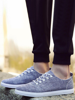 Blue Canvas Comfort  Shoes for Casual Office