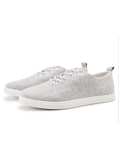 Grey Canvas Comfort  Shoes for Casual Office